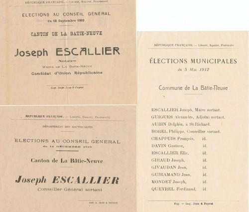Proclamations électorales