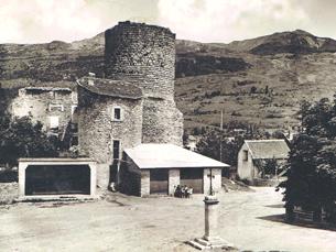 Maison écrasée par l'effondrement de la Tour (1951)
