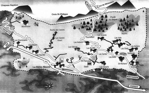 La Bâtie Neuve : ses hameaux